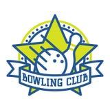 Vector bowling logo emblems. Stock Photography
