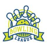 Vector bowling logo emblems. Royalty Free Stock Photo