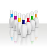 Vector bowling pins Royalty Free Stock Photography