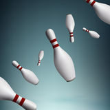 Vector bowling pins Stock Photo