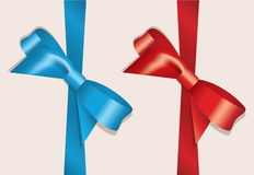 vector bows and ribbons Stock Image