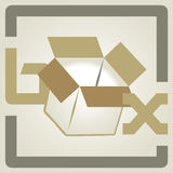 Vector box. Vector illustration of a box package Royalty Free Stock Photo