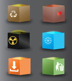 Vector box. Set of vector box icons Royalty Free Stock Images
