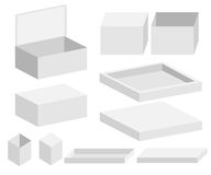 Vector box set illustration mock up collection Royalty Free Stock Photography