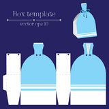 Vector box template. Blue glad rags. Stock Photography