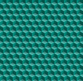 Vector Boxes. Blue and green vector cube honeycombs Stock Image