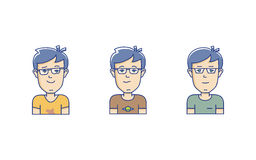 Vector boy avatar Royalty Free Stock Images