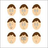 Vector Boy Faces Stock Image