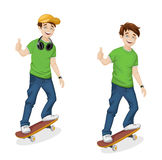 Vector boy Royalty Free Stock Images