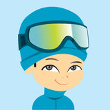 Young Boy Wearing Ski Clothing Royalty Free Stock Photo