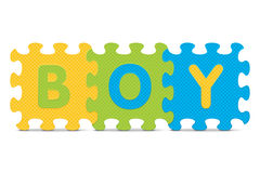 Vector BOY written with alphabet puzzle Stock Photography