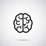 Vector Brain Icon Royalty Free Stock Photo