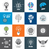 Vector Brain Logo Imagen de archivo libre de regalías