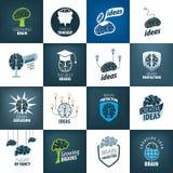 Vector brain logo royalty free illustration