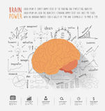 Vector brain power ideas concept Royalty Free Stock Photos
