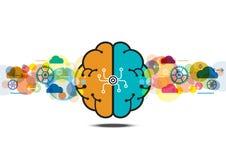 Vector brain process creative concept Royalty Free Stock Photos
