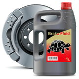 Vector Brake Fluid with Disk Brake Stock Image