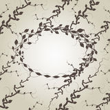 Vector branches and leaves background Royalty Free Stock Photos