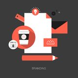Vector branding concept illustration Royalty Free Stock Photo