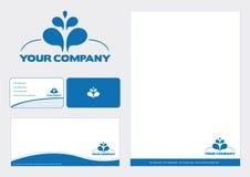 Vector branding. Marketing material vector illustration
