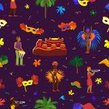 Vector brazil carnival rio festival celebration brazilian girls dancers samba party carnaval traditional costume south. Holiday dancer illustration banner vector illustration