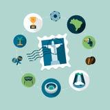 Vector Brazil concept illustration Stock Images