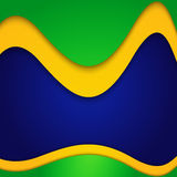 Vector Brazil flag concept colorful wave Royalty Free Stock Photo