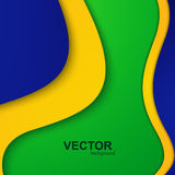 Vector Brazil flag concept colors creative wave. Colorful illustration Stock Photo