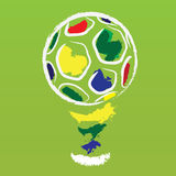 Vector brazil football Stock Images