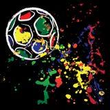 Vector brazil football Stock Photo