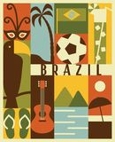Vector Brazil icon set. Vector Brazil background, icon set stock illustration