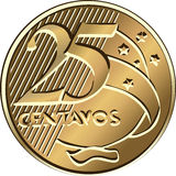 vector Brazilian centavo coin twenty-five Stock Photo