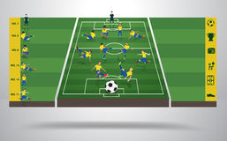Vector brazilian soccer football player in differe Stock Photos