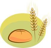 Vector bread. Vector illustration of bread and wheat stock illustration