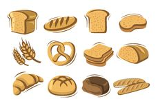 Vector bread Royalty Free Stock Image