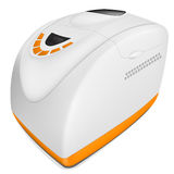 Vector bread maker. Vector illustration of realistic white bread maker with orange button royalty free illustration