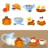 Vector breakfast food set Stock Images