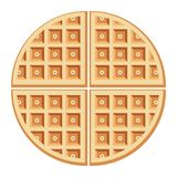 Vector breakfast waffles Stock Photography
