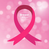 Vector Breast cancer awareness pink ribbon Stock Images