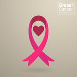 Vector Breast cancer awareness pink ribbon Stock Photo