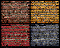 Vector brick wall Stock Image