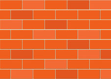 Vector brick wall Stock Photography