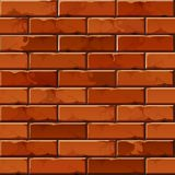Vector Brick Wall Background Texture Pattern Stock Image