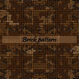 Vector brick wall, bricks are with a rough surface. A seamless tiling texture. Illustration of brick work vector illustration