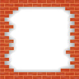 Vector brick wall damaged Stock Images