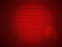 Vector brick wall made of red bricks Stock Photos