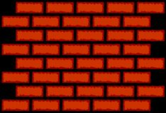 Vector brick wall texture Stock Images