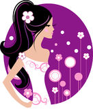 Vector bride Stock Photography