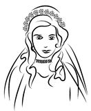 Vector bride Royalty Free Stock Photography