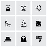 Vector Bride icon set Stock Images